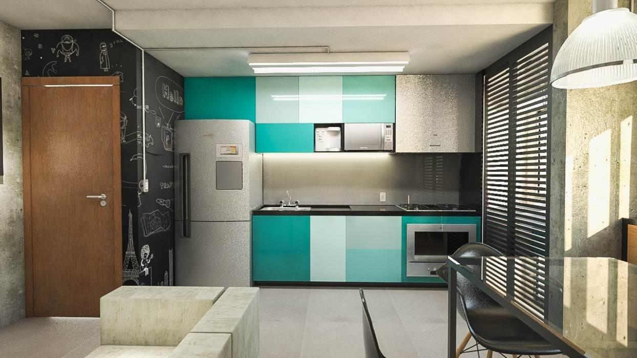 Cozinhas coloridas 16